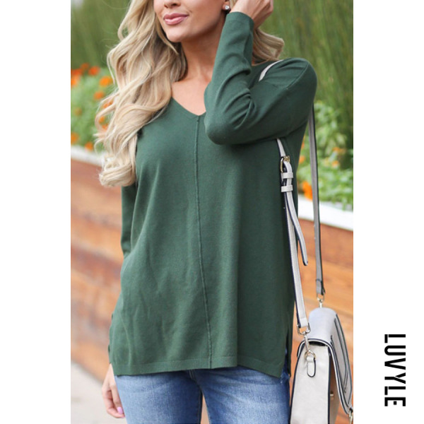 Green V Neck Plain T-Shirts Green V Neck Plain T-Shirts