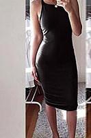 Spaghetti Strap  Plain  Sleeveless Bodycon Dresses