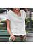 Casual Heap Collar Pure Colour Short Sleeves T-Shirt