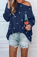 One Shoulder  Star T-Shirts