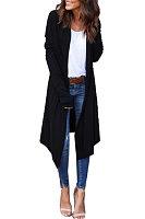 Cowl Neck  Asymmetric Hem  Plain Cardigans