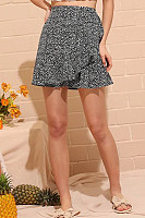 Printed Basic Fitted Skirts
