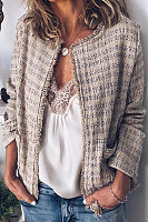 Vintage Regular Check Tassel Blazer