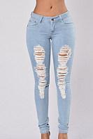 Denim Plain Basic Jeans