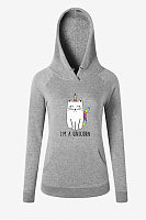 Fashion Print Hooded Sweatshirt Hoodie