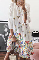 Leisure Butterfly Print Midi Dress