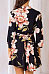 V Neck  Asymmetric Hem  Floral Printed Casual Dresses