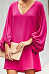 V Neck  Plain  Lantern Sleeve  Long Sleeve Casual Dresses