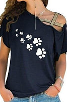 Dog Claw Pattern T-Shirts