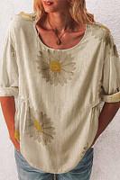 Daisy Printed Half Sleeve T-shirt