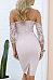 Spaghetti Strap  Lace Up Slit  Patchwork Bodycon Dresses