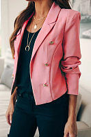Notch Lapel Double Breasted Blazer