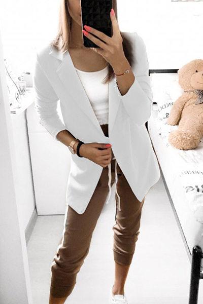 Casual OL Plain Color Blazers