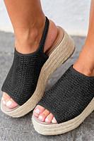 Bohemian  Peep Toe  Casual Date Platform Sandals