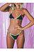 Spaghetti Strap  Contrast Trim  Plain Bikini