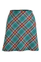 Fashion Plaid Zip Skirt