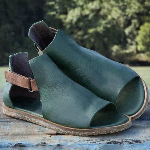 Women's vintage flat toe sandals