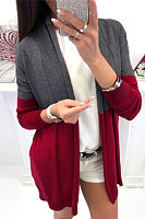 Casual Long Sleeve Contrast Cardigan