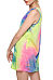 Round Neck  Tie Dye Casual Dresses