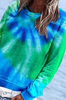 Tie-dye Printed Long Sleeve Sweatshirt