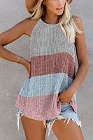 Casual Round Neck Knit Camis