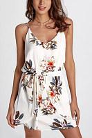 Elegant Sexy Floral Print Mini Dress