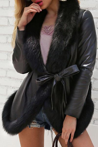 Fashion Imitation Fox Fur Coat