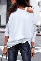 Round Neck  Plain T-Shirts(Camisole is excluded)