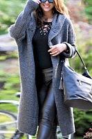 Hooded Long Sleeve Plain Knit Outerwear