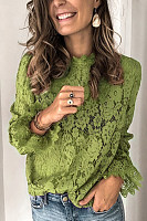 Lace Stand Collar Long Sleeve Fashion Long Sleeve Bottoming