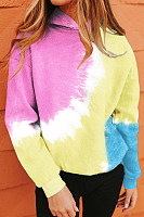 Color Block Tie-dye Hoody