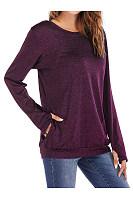 Round Neck  Plain Long Sleeve T-Shirts