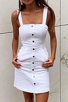 Sexy pocket button dress
