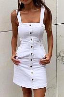 Sexy pocket button dress