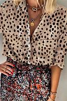 Women's Fashion Polka Dot Long Sleeve Shirt