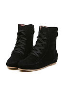Casual Criss Cross Flat Boots