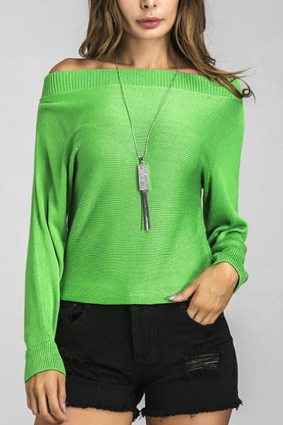 Crew Neck  Plain Sweaters