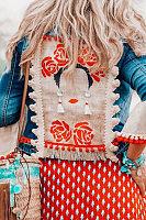 Women Bohemian Fashion Long Sleeve Tassel Jacket