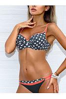 Polka Dot  Low-Rise Bikini