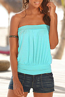 Strapless  Backless  Plain Casual  Vests