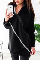 Asymmetric Neck  Zipper  Plain Outerwear