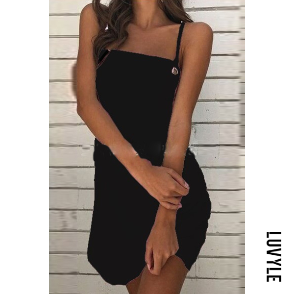 Black Spaghetti Strap Plain Sleeveless Bodycon Dresses Black Spaghetti Strap Plain Sleeveless Bodycon Dresses