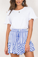 Loose Fitting  Striped Skirts