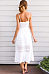 Spaghetti Strap  Single Breasted Slit  Hollow Out Plain  Sleeveless Maxi Dresses