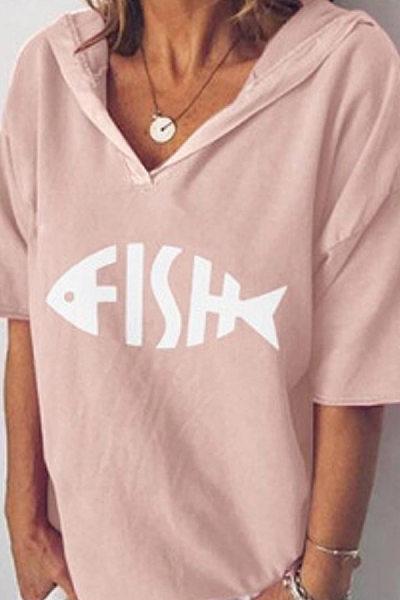 Solid Color Short-Sleeved Hat T-Shirt