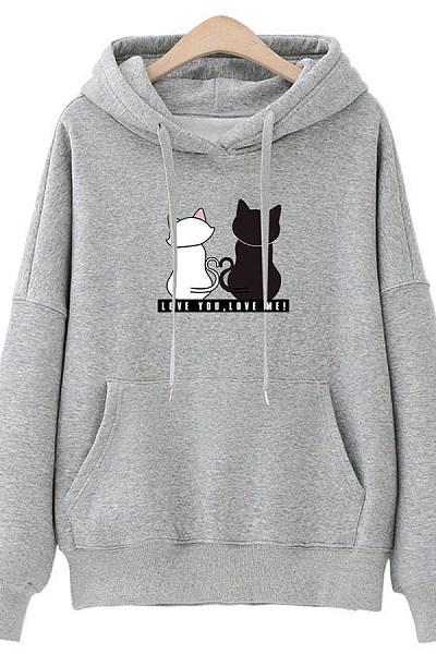 Hooded  Animal Prints Hoodie