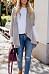 Lapel  Asymmetric Hem  Plain Cardigans