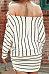 Off Shoulder  Striped  Sweatshirts
