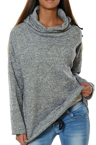 Hooded  Drawstring  Plain Hoodies