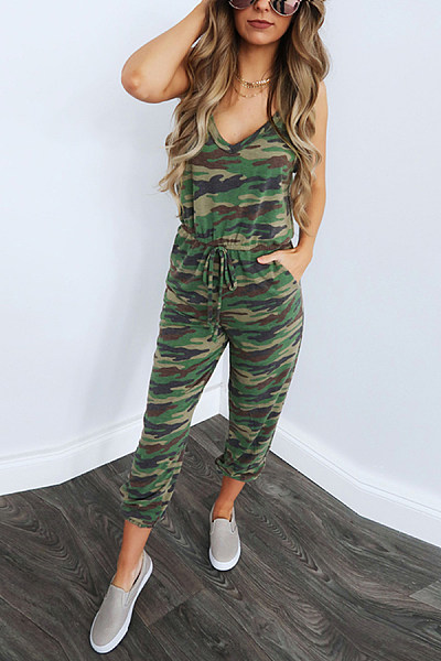 Sexy Sling Strap Slim Jumpsuit